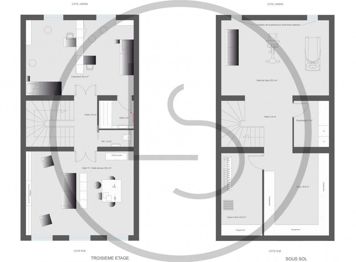 plan de buanderie latest plan de buanderie with plan de. Black Bedroom Furniture Sets. Home Design Ideas